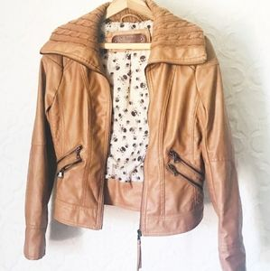 Ci Sono Vegan Leather Jacket